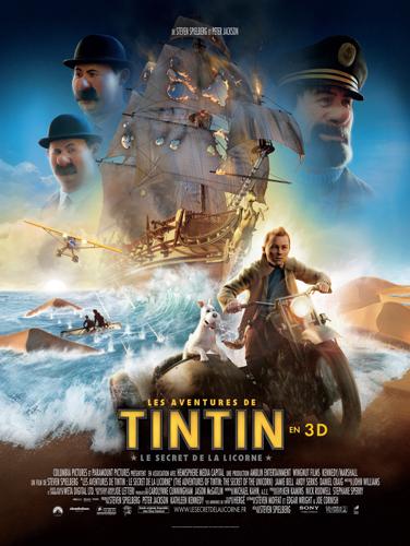 Affiche Tintin pour cadre lumineux 78 x 108