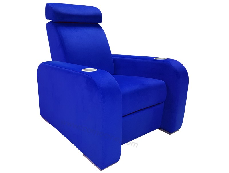 le design ultra king size fauteuil home cinma motoris tissu velours luxe class select - Fauteuil Home Cinema