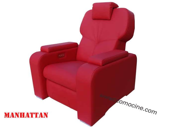 le manhattan fauteuil home cin ma double motorisation a 3 pilotages ind pendants cuir rouge. Black Bedroom Furniture Sets. Home Design Ideas